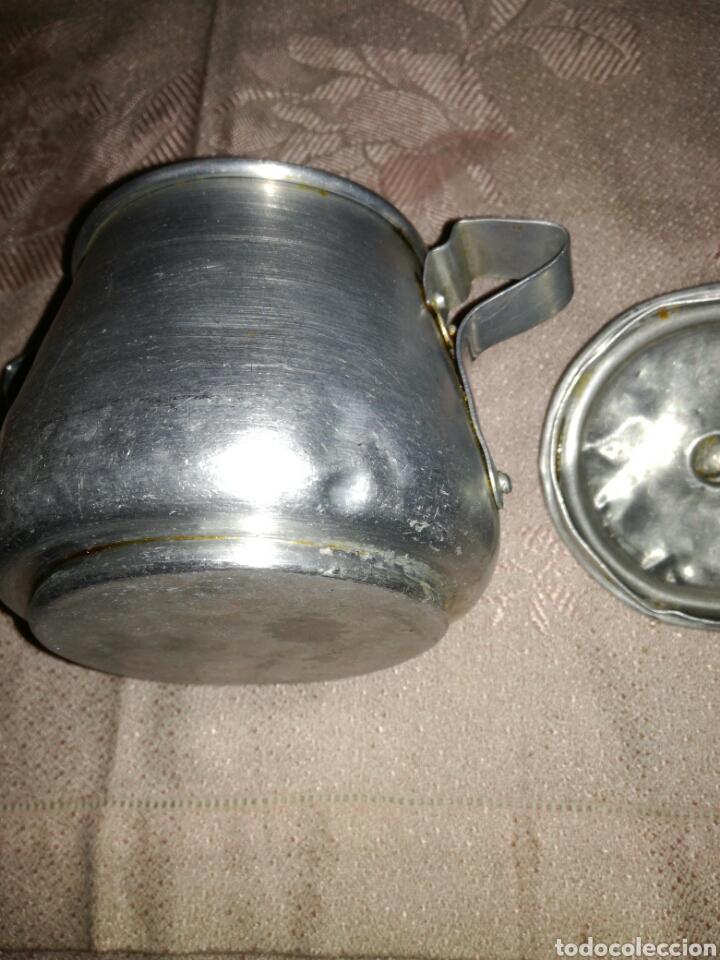 Antigüedades: Antiguo azucarero de aluminio - Foto 4 - 102543183