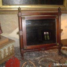 Antigüedades: PRECIOSO ESPEJO O TOCADOR EPOCA IMPERIO 1800 EN CAOBA. Lote 102551159