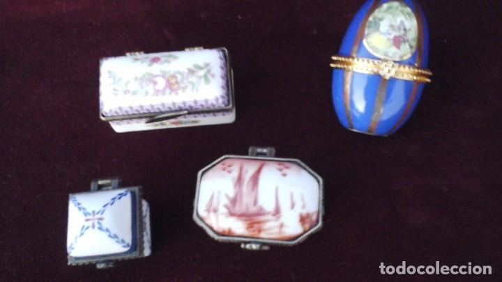 Antigüedades: Cuatro cajitas en porcelana fina , actuales - Foto 2 - 165648016
