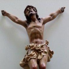 Antigüedades: CRISTO (SIN CRUZ) EN PASTA MADERA DE OLOT. Lote 102553799