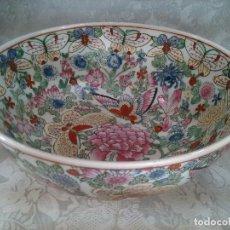 Antigüedades: CENTRO EN PORCELANA CHINA. CANTON. SELLO EN LA BASE. PRIMER TERCIO DEL S. XX.. Lote 102556723