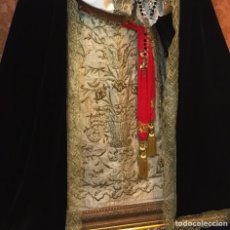Antigüedades: BORDADO EN ORO, PAÑO BORDADO EN ORO SXIX, DOLOROSA, SAYA, CAP I POTA, SAYA TAMAÑO NATURAL, BORDADO. Lote 86681860