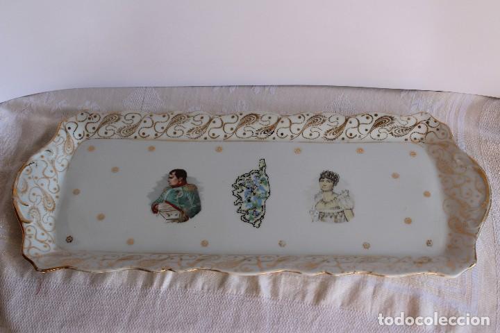 Antigüedades: ANTIGUA BANDEJA DE LIMOGES PORCELANA DECORADA EN ORO E IMAGEN DE NAPOLEON Y JOSEFINA - Foto 4 - 172920300