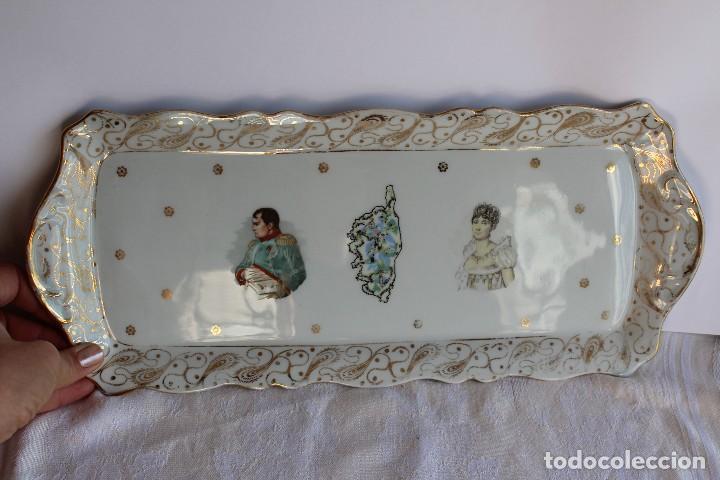 Antigüedades: ANTIGUA BANDEJA DE LIMOGES PORCELANA DECORADA EN ORO E IMAGEN DE NAPOLEON Y JOSEFINA - Foto 5 - 172920300