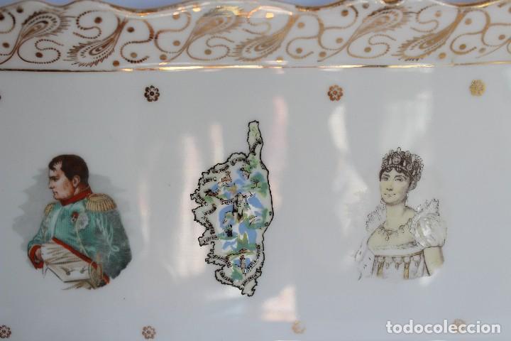 Antigüedades: ANTIGUA BANDEJA DE LIMOGES PORCELANA DECORADA EN ORO E IMAGEN DE NAPOLEON Y JOSEFINA - Foto 6 - 172920300