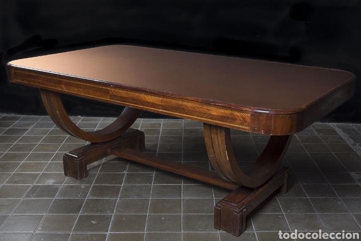 mesa art deco italiana con sobre en marmolita c - Comprar Mesas ...