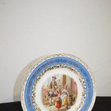 Antigüedades: PLATO ANTIGUO EN FINA PORCELANA . Lote 102609507