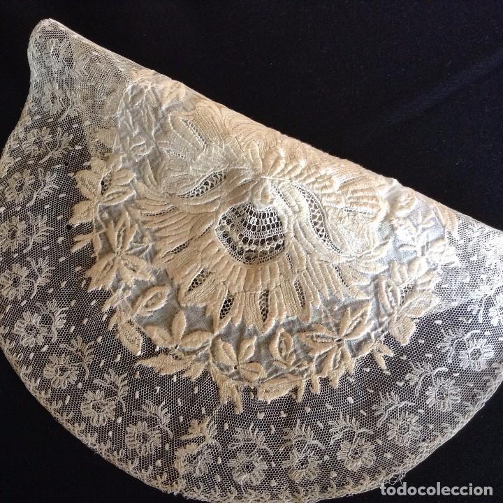 Antigüedades: Bordado maravilloso 1900 - Foto 4 - 131865347