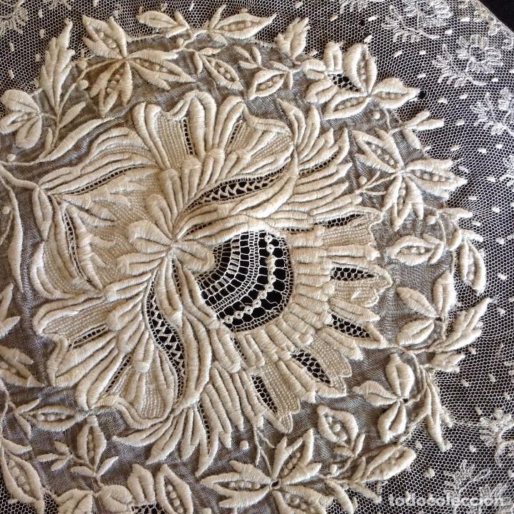 Antigüedades: Bordado maravilloso 1900 - Foto 5 - 131865347