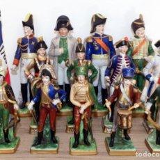 Antigüedades: 14 SOLDADOS OFICIALES MILITARES EN PORCELANA DRESDEN GERMANY. Lote 102618915