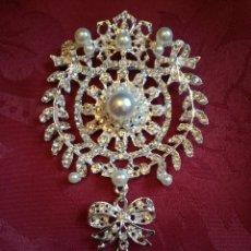 Antigüedades: BROCHE PARA IMAGEN RELIGIOSA VIRGEN O SANTO. Lote 104071680