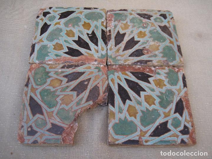 Azulejo arabe patrn continuo blanco turcos marruecos for Azulejos antiguos sevilla
