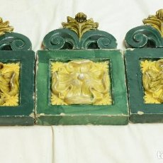 Antigüedades: TRES AZULEJOS MODERNISTAS DE GRAN TAMAÑO . Lote 102629951