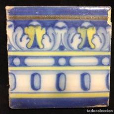 Antigüedades: BONITO AZULEJO RUIZ DE LUNA DE TALAVERA. Lote 102632944
