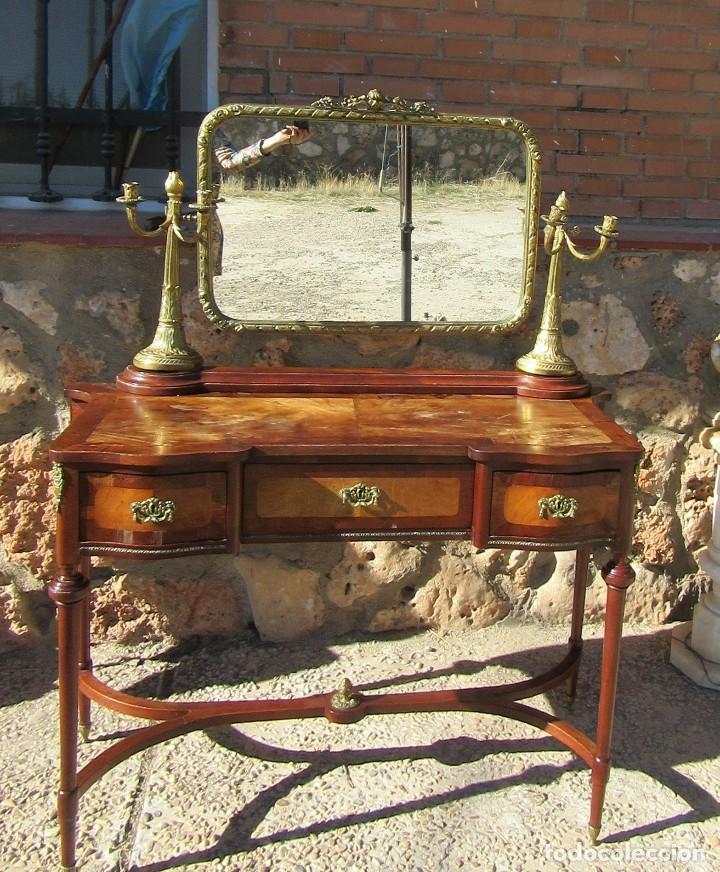 CÓMODA ANTIGUA CON ESPEJO (Antigüedades - Muebles - Cómodas Antiguas)