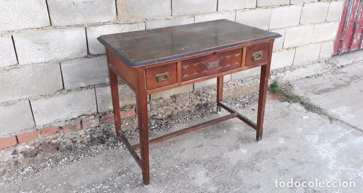 Antigüedades: Escritorio antiguo estilo modernista. Mesa taller antigua estilo rústico. Mesa stilo art decó. - Foto 3 - 102643647