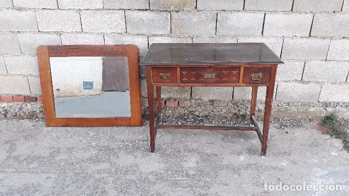 Antigüedades: Escritorio antiguo estilo modernista. Mesa taller antigua estilo rústico. Mesa stilo art decó. - Foto 10 - 102643647