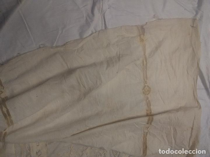 Antigüedades: Gran Cortina XIX bordados - Foto 9 - 102265991