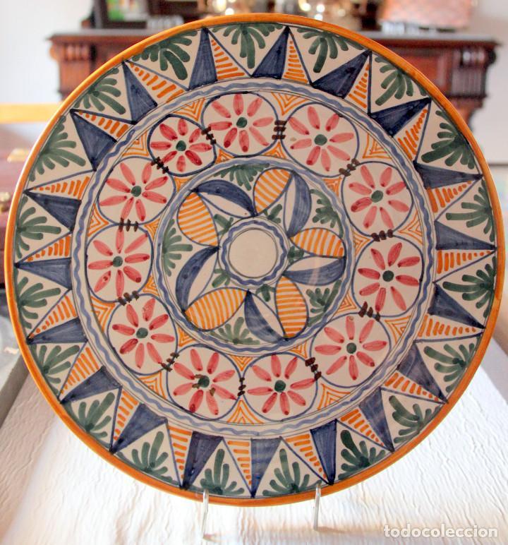 Antigüedades: PLATO TOLEDO-TALAVERA: SANGUINO - 30 cm - Foto 3 - 102655071