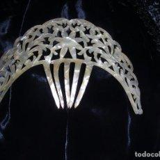 Antigüedades - PEINETA NACAR MANTILLA - 102675411