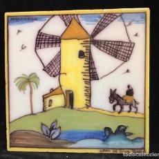 Antigüedades: AZULEJO GRANDE RUIZ DE LUNA DE TALAVERA 20X20CM. Lote 102682284
