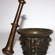 Antigüedades: ANTIGUO ALMIREZ DEL SIGLO XVIII . MORTERO. Lote 102693099