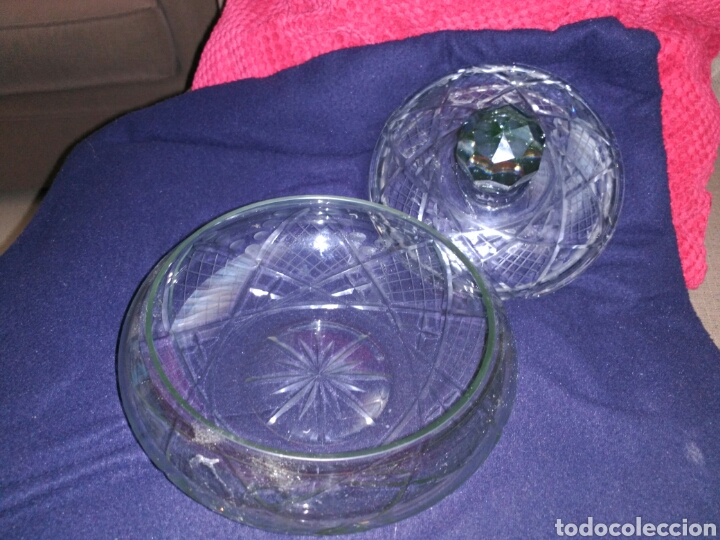 Antigüedades: Bombonera cristal de bohemia - Foto 2 - 102701778