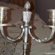 Antigüedades: CANDELABROS DE PLATA DE LEY. Lote 102718711