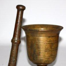 Antigüedades: GRAN ALMIREZ DE LOS DE LA COPA. MEDIADOS DEL SIGLO XVIII . MORTERO. Lote 102730159
