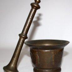 Antigüedades: INTERESANTE ALMIREZ DE PRINCIPIOS DEL SIGLO XVIII . MORTERO. Lote 102730799