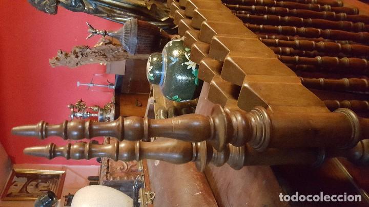Antigüedades: Pareja de cabeceros de estilo gótico en madera. Para cama individual. - Foto 4 - 102731091