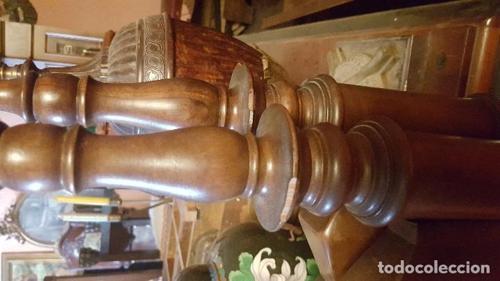 Antigüedades: Pareja de cabeceros de estilo gótico en madera. Para cama individual. - Foto 5 - 102731091