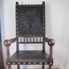 Antigüedades: MAGNÍFICO SILLÓN FRAILERO. Lote 102731911
