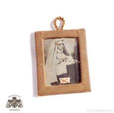 Antigüedades: ANTIGUO RELICARIO MARIA DE JESUS FUNDADORA INSTITUTO DE MARIA REPARADORA 1878. Lote 102733411