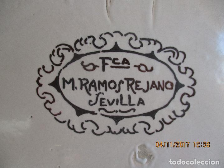 Antigüedades: Plato pintado Vigil Escalera. Ramos Rejano - Foto 4 - 102736371