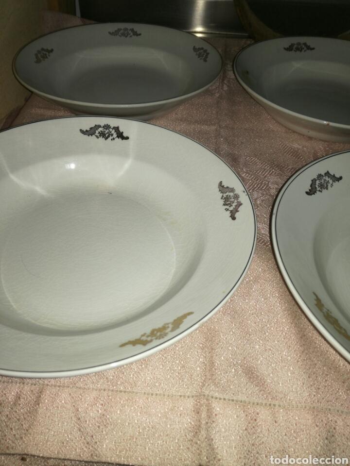 Antigüedades: 4 platos hondos La Asturiana Gijón - Foto 3 - 102741524