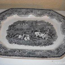 Antigüedades: BANDEJA OCTOGONAL DE LOZA , FABRICA DE CARTAGENA. Lote 102741799