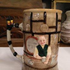 Antigüedades: PRECIOSA JARRA MUSICAL DE CERVEZA EN CERAMICA INGLESA SANDLAND. Lote 102764706