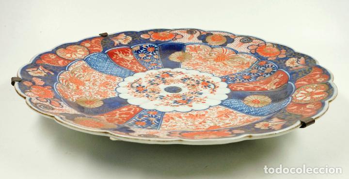 Antigüedades: Plato Imari japonés, diámetro 34cm - Foto 2 - 102777075