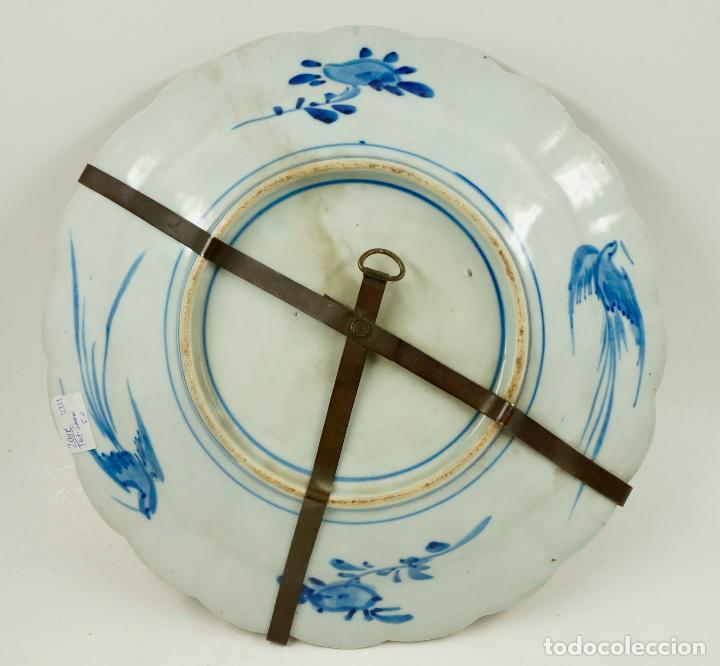 Antigüedades: Plato Imari japonés, diámetro 34cm - Foto 3 - 102777075
