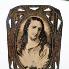 Antigüedades: PEQUEÑO PORTAFOTOS DE BRONCE ART NOUVEAU FRANCES DE 1900 PIEZA NUMERADA DE COLECCION Nº89. Lote 102793639