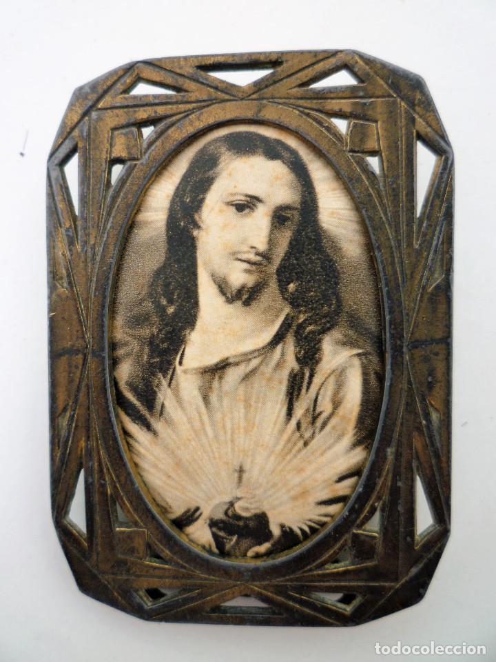 Antigüedades: PEQUEÑO PORTAFOTOS DE BRONCE ART NOUVEAU FRANCES DE 1900 PIEZA NUMERADA DE COLECCION Nº89 - Foto 3 - 102793639