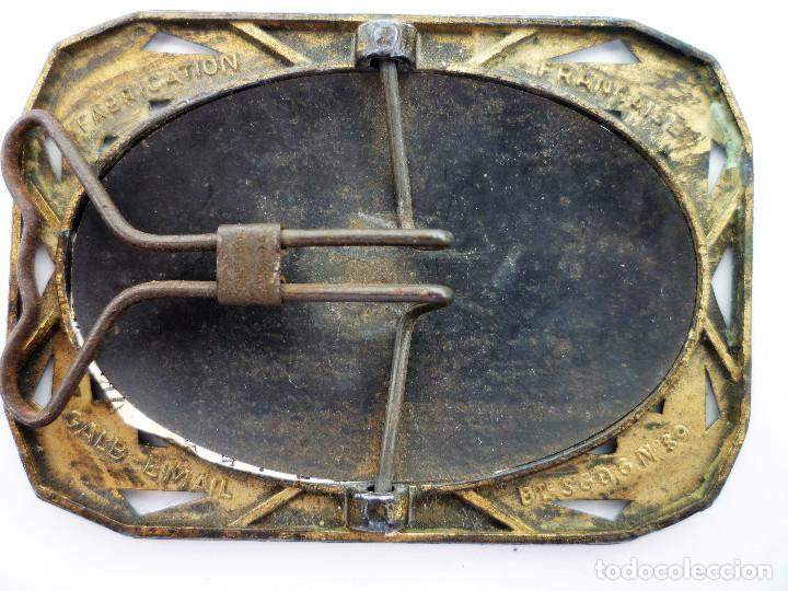 Antigüedades: PEQUEÑO PORTAFOTOS DE BRONCE ART NOUVEAU FRANCES DE 1900 PIEZA NUMERADA DE COLECCION Nº89 - Foto 4 - 102793639