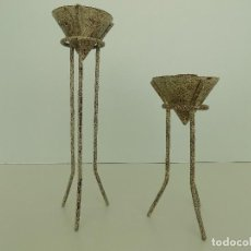 Antigüedades: ORIGINALES PORTAVELAS VINTAGE. NUEVOS, EN PERFECTO ESTADO!. Lote 102793899