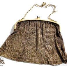 Antigüedades: BOLSITO DE MALLA PRINCIPIOS SIGLO PASADO. MUY BUEN ESTADO - 16 X 17 CM PESO 201 GRAMOS. Lote 102803455