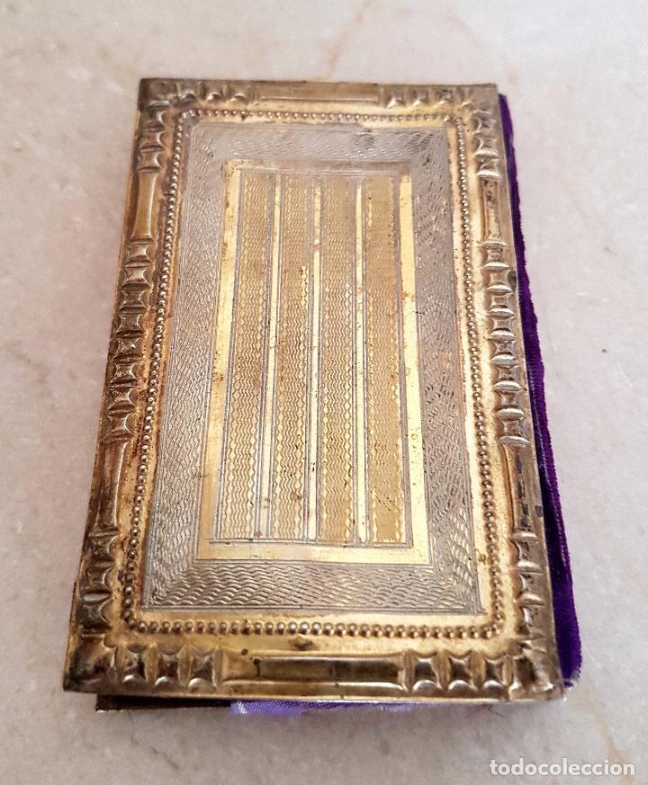 Antigüedades: EXCEPCIONAL CARNET DE BAILE CON LAS CUBIERTAS EN PLATA CONTRASTADA,S. XIX - Foto 4 - 102811227