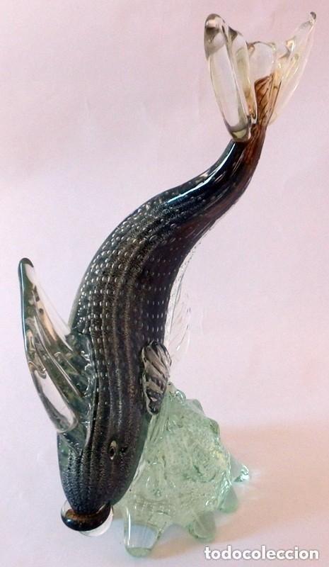 Antigüedades: PEZ EN CRISTAL DE MURANO - Foto 5 - 102814323