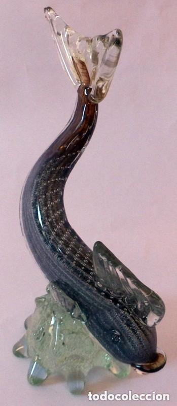Antigüedades: PEZ EN CRISTAL DE MURANO - Foto 6 - 102814323
