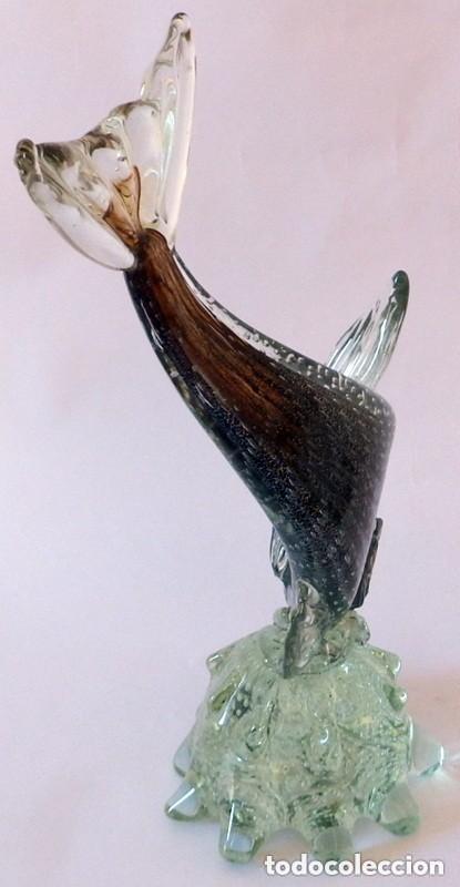 Antigüedades: PEZ EN CRISTAL DE MURANO - Foto 9 - 102814323