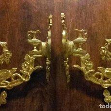 Antigüedades: PRECIOSOS CORTINEROS DE BRONCE S. XIX. Lote 102826435